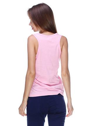 Майка женская с карманом, розовая, фото 2