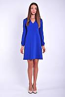 Платье женское синее повседневное