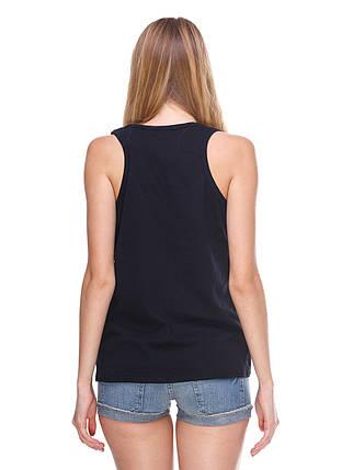 Майка женская с карманом, черный, фото 2