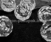 Кристаллы для декора с отверстиями. 40х36мм Цена за 1 шт.