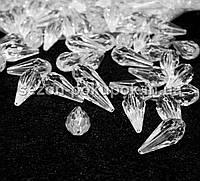 Кристаллы для декора с отверстиями. 25х10мм Цена за 25 шт.