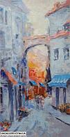 Картина для дома и офиса. Городской пейзаж живопись