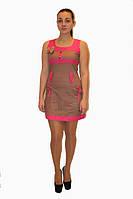Платье DELANO №13093 коричневое с розовым  Артикул: 136002 Цена опт. : 267.00 грн.  Цена розн.: 414.00 грн.