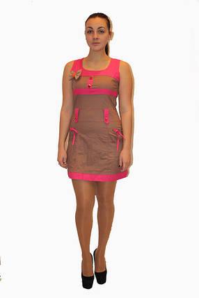 Платье DELANO №13093 коричневое с розовым  Артикул: 136002 Цена опт. : 267.00 грн.  Цена розн.: 414.00 грн., фото 2