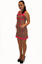 Платье DELANO №13093 коричневое с розовым  Артикул: 136002 Цена опт. : 267.00 грн.  Цена розн.: 414.00 грн., фото 3