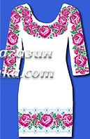 Заготовка для вышивки женского платья на домотканом полотне,  до 52 р, 440/400 (цена за 1 шт. + 40 гр.)