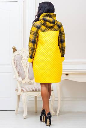 Женское яркое демисезонное пальто р. 44-60 арт. 971 Тон 1, фото 2