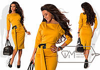 Красивое элегантное строгое женское платье миди, р-ры 42, 44, 46