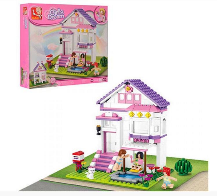 """Конструктор SLUBAN """"Рожева мрія: Будинок відпочинку"""" 291 дет. M38-B0532"""