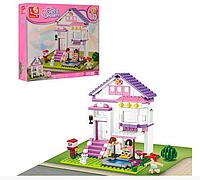 """Конструктор SLUBAN """"Рожева мрія: Будинок відпочинку"""" 291 дет. M38-B0532, фото 1"""