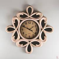 Красивые настенные часы (51см) цвет кремовый