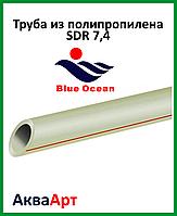 Труба полипропиленовая SDR 7.4 для холодной и горячей воды 20х3.2 мм PN16  BLUE OCEAN