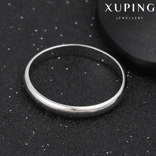 Кольцо обручальное 11346 размер 22, ширина 3 мм, позолота Белое Золото