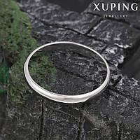 Кольцо обручальное 11346 размер 17, ширина 3 мм, позолота Белое Золото, фото 1
