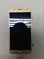 Дисплей для мобильного телефона Samsung J7/J700,золотой, с тачскрином