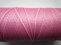 Нить вощёная плоская 0,8 мм светло - розовая