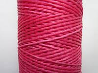 Нить вощёная плоская 0,8 мм розовая