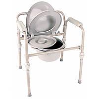 Складной металлический  стул-туалет со съемными ножками