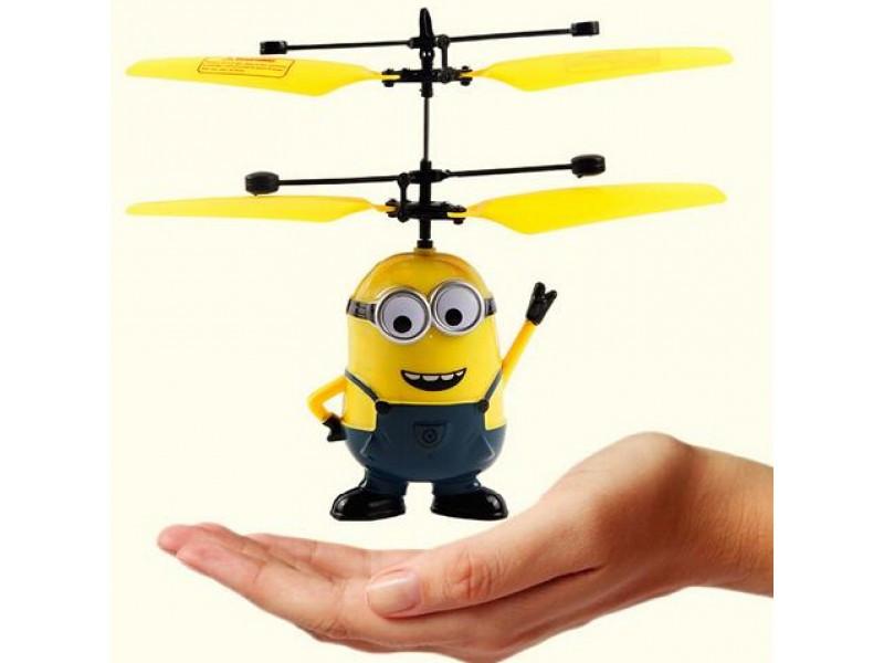 Игрушка Летающий миньон (посипака) Flying Minion Дейв синий