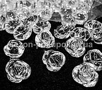 Кристаллы для декора (с отверстием как у пуговицы). 20х15мм Цена за 10 шт. Розочка