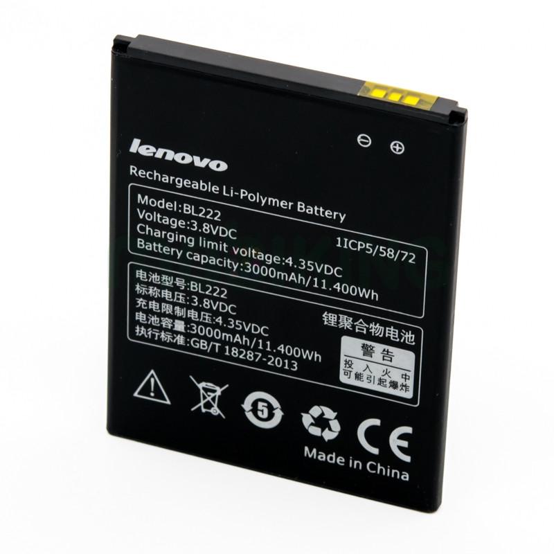 Оригинальная батарея Lenovo S660/S668T (BL-222) для мобильного телефона, аккумулятор для смартфона.