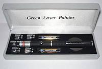 Лазерная указка зеленая с 5 насадками звездное небо 50mv