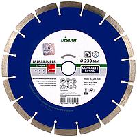 Круг алмазный Distar 1A1RSS/C3-W Super 230 мм сегментный диск по армированному и свежему бетону Дистар Украина