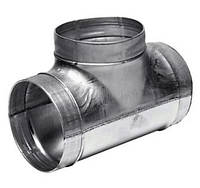 Тройник вентиляционный из оцинкованной стали для круглых каналов 400/125, Вентс, Украина