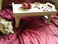 """Деревянный столик поднос """"Утро без суеты"""""""