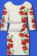 Качественная заготовка для вышивки женского платья, белое,  до 52 р, 600/560 (цена за 1 шт. + 40 гр.)