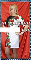 Стильное платье в черно-белом цвете в виде заготовки для вышивки,  до 52 р, 458/418 (цена за 1 шт. + 40 гр.)
