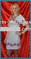 Модная заготовка для вышивки женского платья, белое,  до 52 р, 390/350 (цена за 1 шт. + 40 гр.)