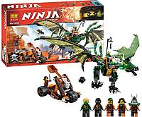 """Конструктор Bela Ninja 10526 """"Зелёный дракон"""" АВ KK"""