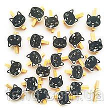 Кот черный на прищепке (3 см) 235