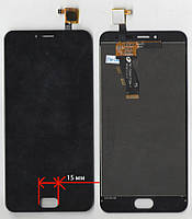 Дисплей + сенсор Meizu M3S Y685Q Чёрный , размер кнопки домой 15мм