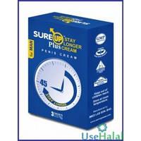 Крем для продления полового акта SUREUp Staylonger cream Универсальное Цитрус и мята