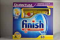 Finish Quantum Lemon лимон 60шт., таблетки для посудомоечных машин