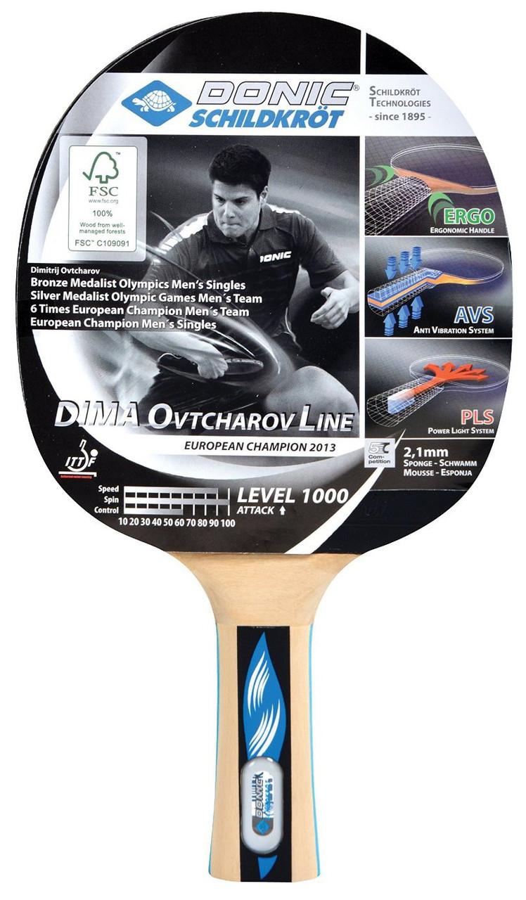 Ракетка для настольного тенниса DONIC OVTCHAROV 1000 (754411)