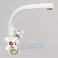 Смеситель на кухню белый DTZ4-D827W (TLD), смесители для кухни ZEGOR (TROYA), фото 1