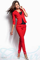 Костюм с пиджаком. Цвет красный.
