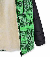 Теплый зимний комбинезон на мальчика - куртка на овчине и полукомбинезон, фото 3