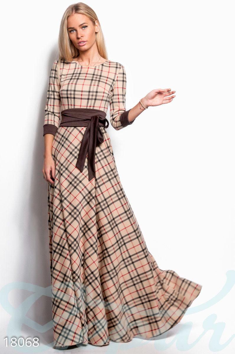 43934f862d5 Длинное платье клетка барбери. - Гарна пані - е-магазин жіночого одягу в  Днепре