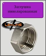 """Заглушка 3/4"""" В никелированная (под пломбу)"""