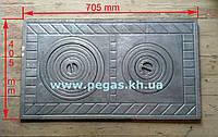 Плита чугунная две конфорки (производство Румыния)