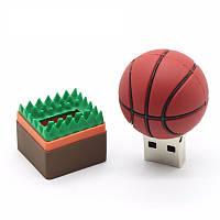 Флешка брелок баскетбольный мяч  спорт