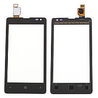 Тачскрин сенсорное стекло для Nokia Lumia 435 High Copy black