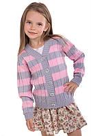 """Теплая вязанная кофта """"Вивьен"""" для девочки, цвет светлый клевер"""