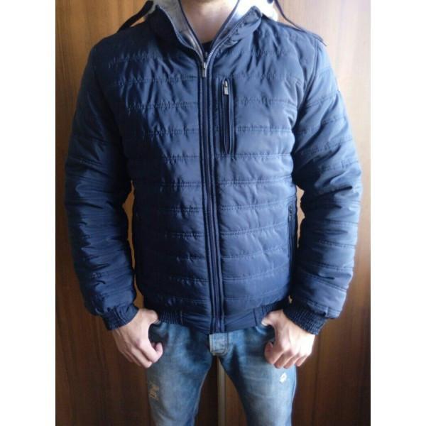 Мужская демисезонная курточка UFC (46-54р-ры) темно-синяя