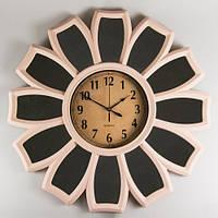 """Оригинальные настенные часы 66х5 см """"Ромашка"""" (с зеркальными вставками)"""
