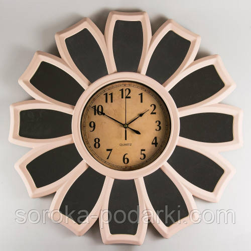 """Оригинальные настенные часы 66х5 см """"Ромашка"""" (с зеркальными вставками) - Soroka в Запорожье"""